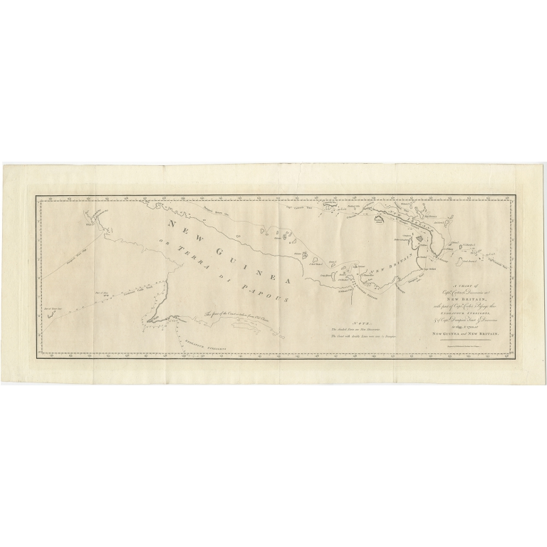 Antique Map of New Guinea by Hawkesworth (1773)