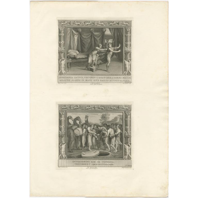 Pl. 27 Antique Religion Print by Cecchini (c.1850)
