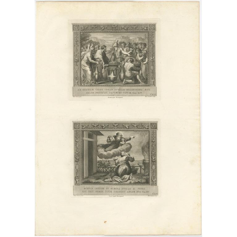 Pl. 13 Antique Religion Print by Carattoni (c.1850)
