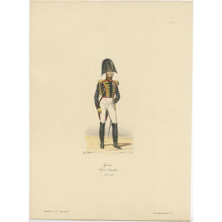 Antique Print of the Chevau-Léger by Titeux (1890)