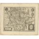 Antique Map of the Region of Metz by Janssonius (1657)