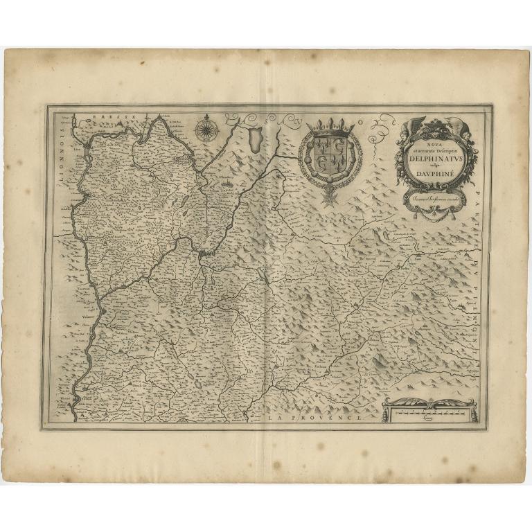 Antique Map of the Coast of Artois by Janssonius (1657)