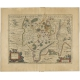 Antique Map of the Region of Lyon by Janssonius (1657)