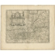 Antique Map of the region of Sarlat by Janssonius (1657)