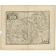 Antique Map of the region of Berry by Janssonius (1657)
