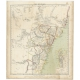 Antique Map of New South Wales by Flemming (c.1850)