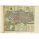 Antique Map of Alkmaar by Tirion (c.1740)
