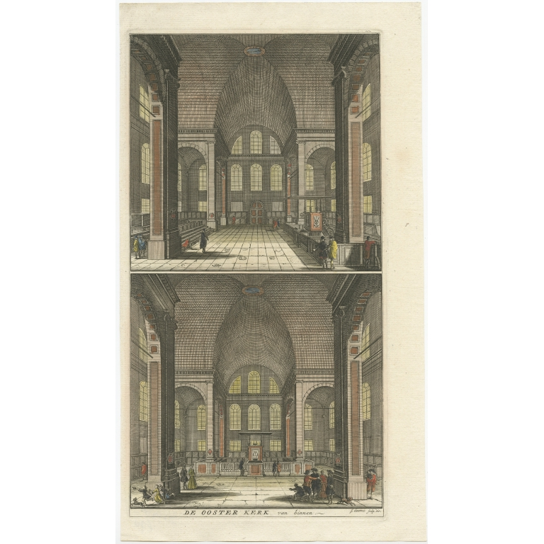 Antique Print of the 'Oosterkerk' by Goeree (1765)