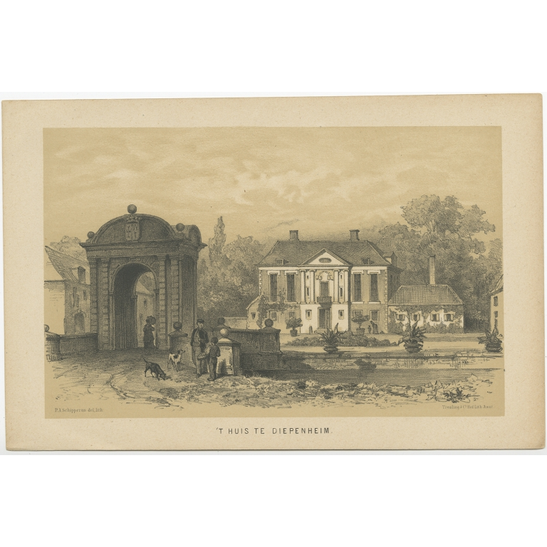 Antique Print of 'Huis Diepenheim' by Craandijk (1888)