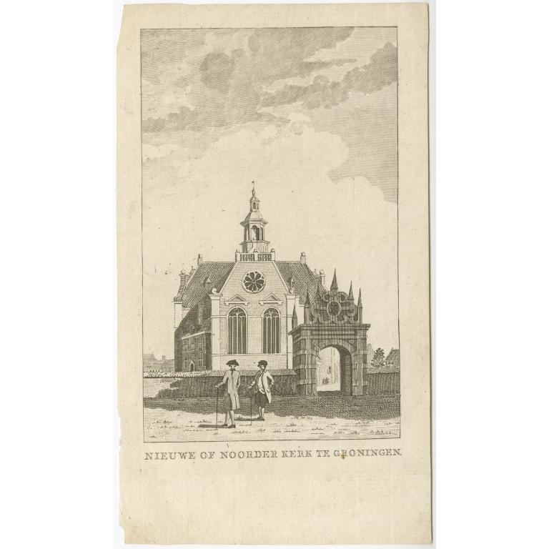Antique Print of the 'Nieuwe Kerk' in Groningen by Tirion (1790)