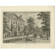 Antique Print of the provincial-executive of Leeuwarden by Bendorp (1793)