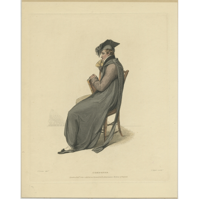 Antique Print of a Commoner by Ackermann (1813)