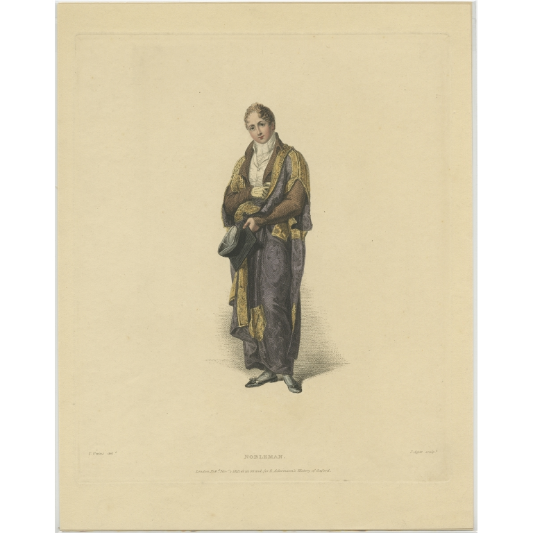 Antique Print of a Nobleman by Ackermann (1813)