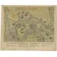 Antique Map of St. Andries (Heerewaarden) by Orlers (1610)