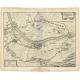 Antique Map of Gennep by Merian (c.1650)