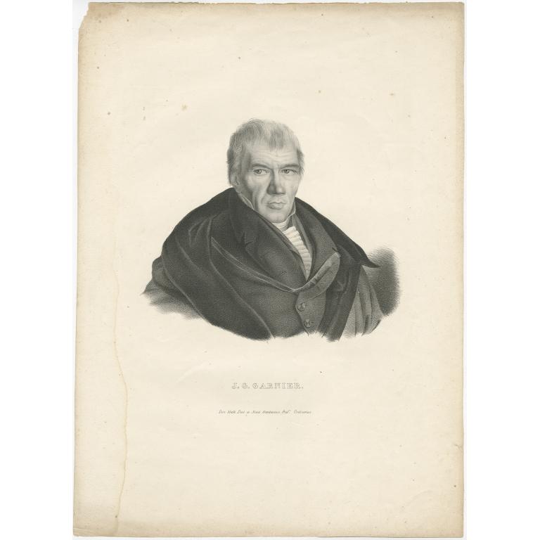 Antique Portrait of Jean-Guillaume Garnier (c.1850)