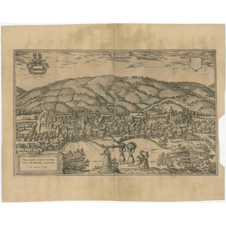Antique Print of Büdingen by Braun & Hogenberg (1617)