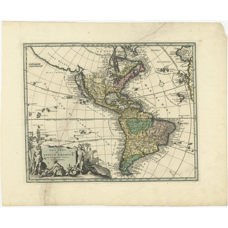 Antique Map of America by Weigel (1710)