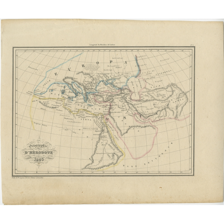Antique Map of Ancient Greece by Malte-Brun (1837)