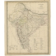 Pl. 12 Antique Map of India and Ceylon by Walker (1835)
