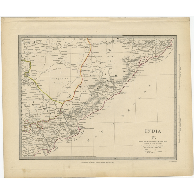 Pl. 4 Antique Map of Eastern India by Walker (1832)