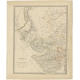 Pl. 5 Antique Map of the Region of Gujarat and Cutch by Walker (1833)