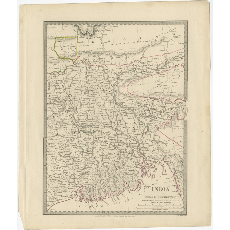 Pl. 8 Antique Map of part of the Bengal Presidency by Walker (1831)