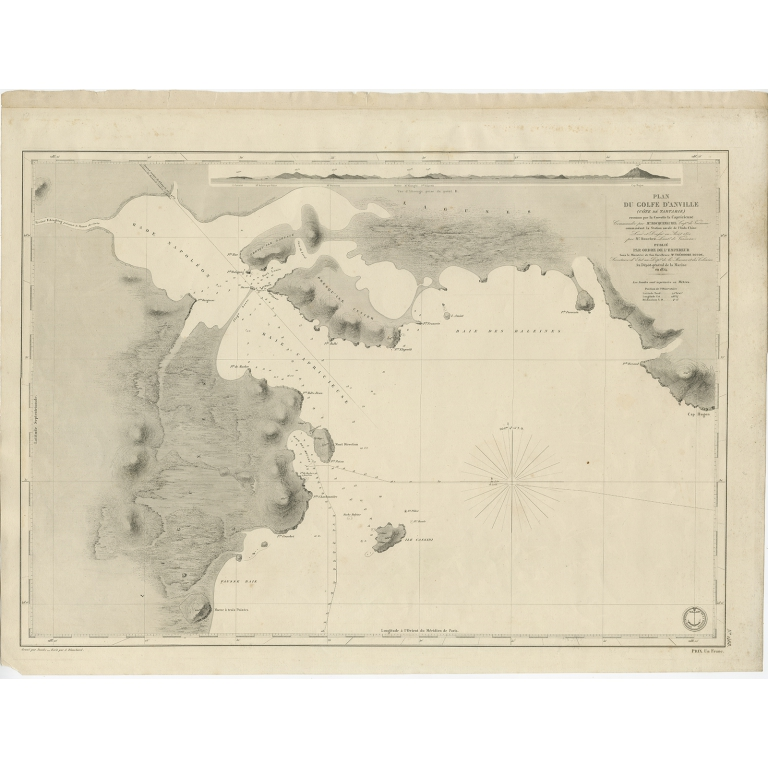 Antique Map of the Coast of China by Blanchard (c.1852)