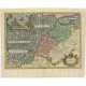 Antique Map of Morocco by Hondius (1605)