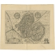 Antique Map of the City of Zutphen by Guicciardini (1612)