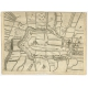 Antique Map of the City of Alkmaar by Priorato (1673)