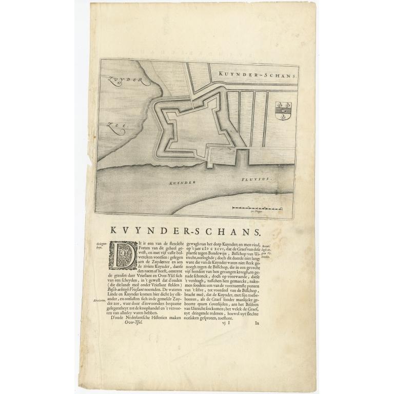 Antique Map of Kuinderschans by Van Loon (1649)