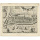 Antique Map of Stavoren by Geelkercken (1616)