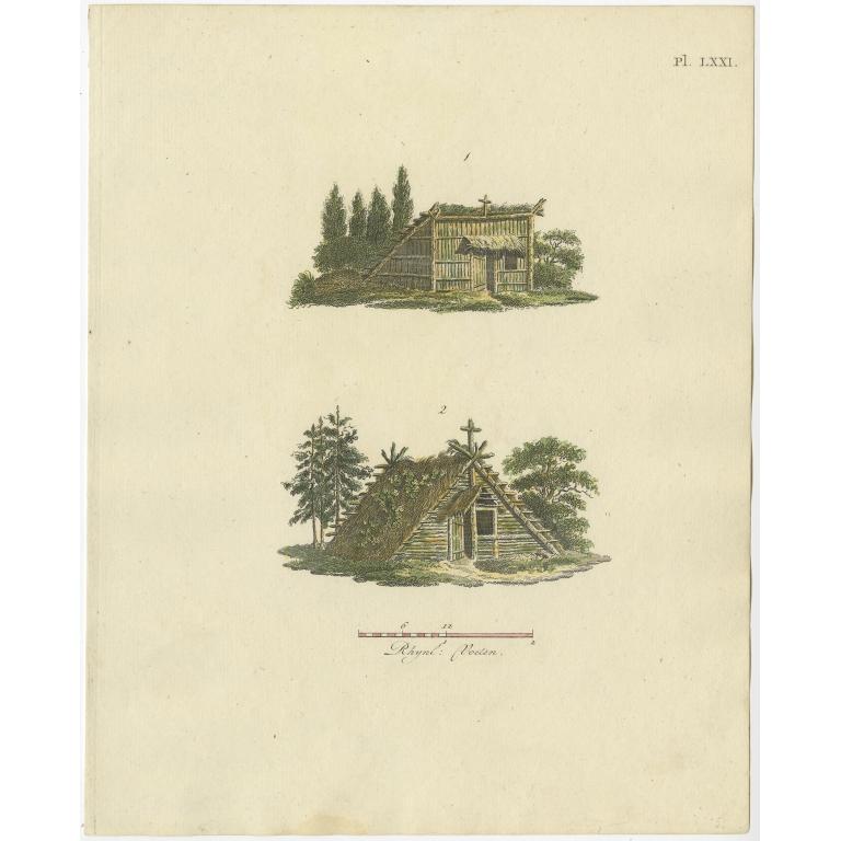 Pl. 71 Antique Print of Garden Architecture by Van Laar (1802)