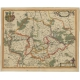 Antique Map of Lower Silesia by Blaeu (c.1650)