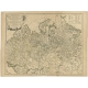 Antique Map of the Russian Empire in Europe by Vaugondy (1750)