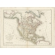 Antique Map of North America by Tardieu (1821)