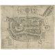 Antique Map of the City of Franeker by Bast (1598)