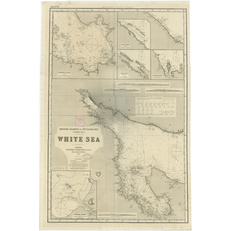 Antique Map of the British Islands to Petshora Bay by Imray and Son (1891)