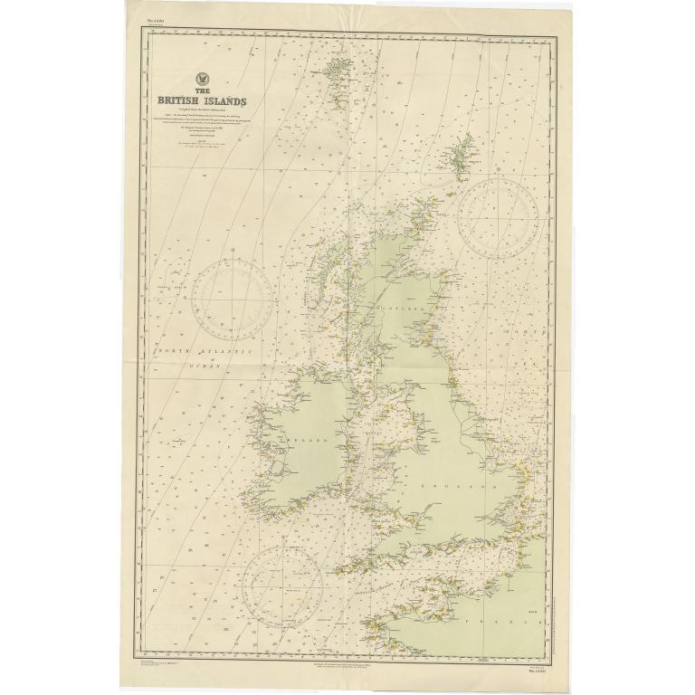 Antique Map of the British Islands (1918)