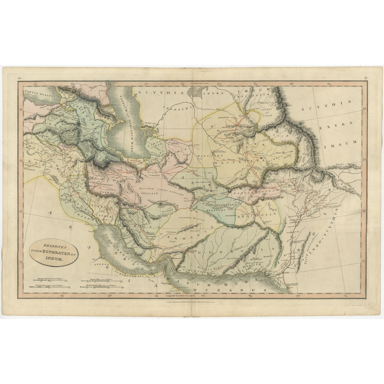 Antique Map of the Middle East by Smith (1809)