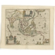 Antique Map of the East Indies by Blaeu (c.1640)