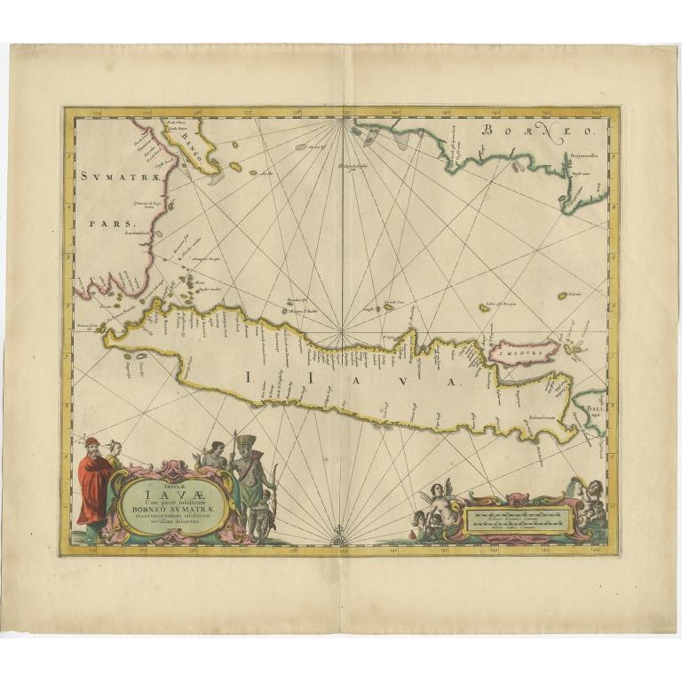Antique Map of Java by Janssonius (c.1650)