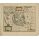 Antique Map of the East Indies by Janssonius (c.1644)