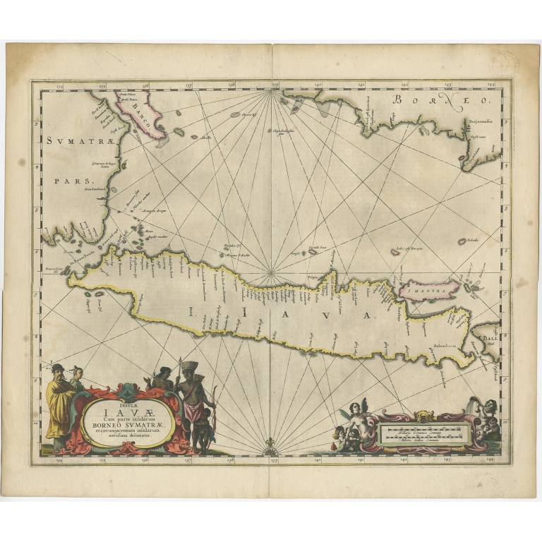 Antique Map of Java by Janssonius (c.1657)