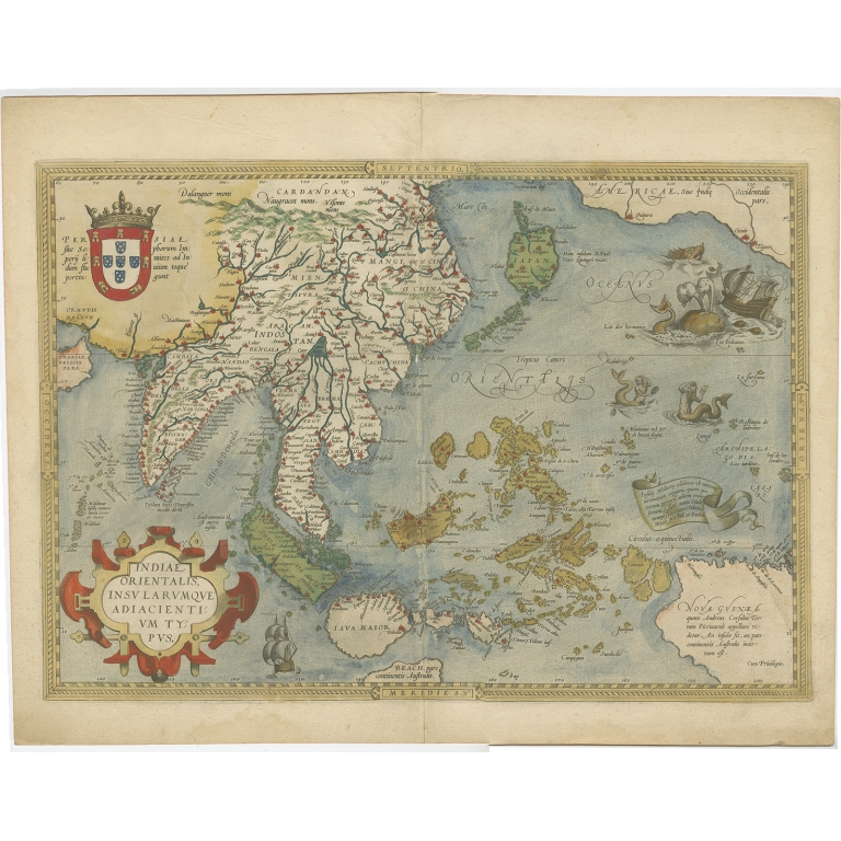 Antique Map of the East Indies by Ortelius (c.1603)