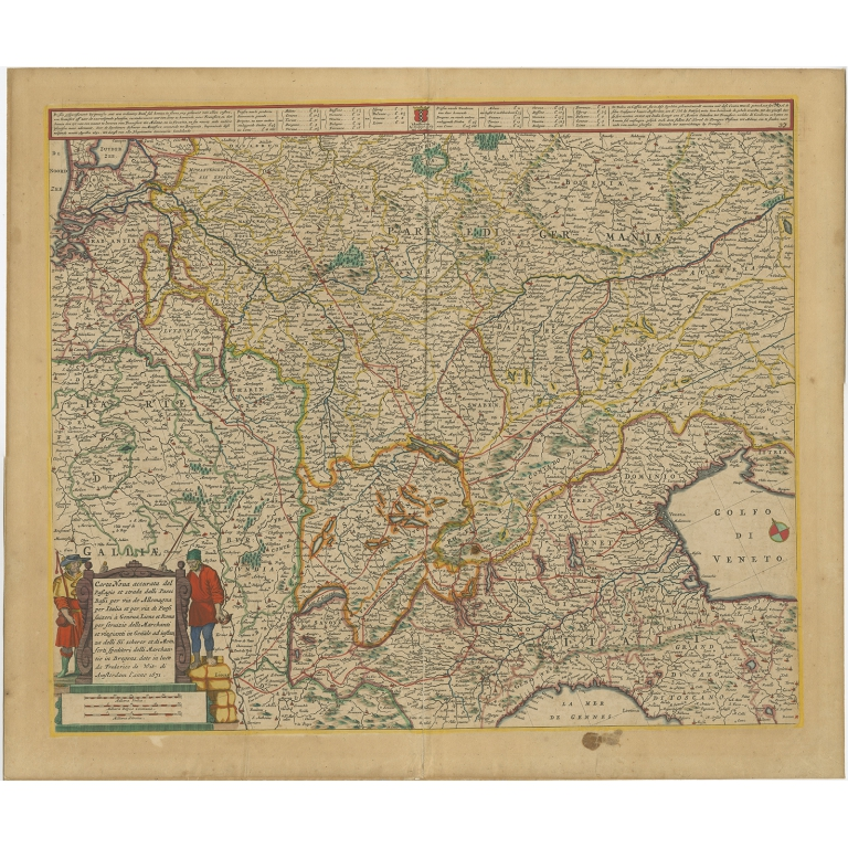 Antique Map of Central Europe by De Wit (c.1680)