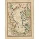Antique Map of the Caspian Sea by Bowen (1747)