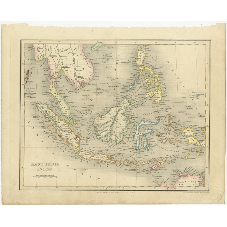 Antique Map of the East Indies by Dower (1832)