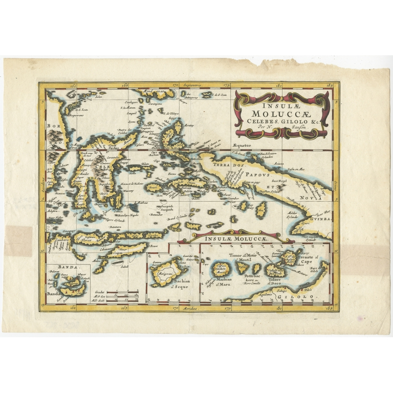 Antique Map of the Spice Islands by Sanson (c.1652)
